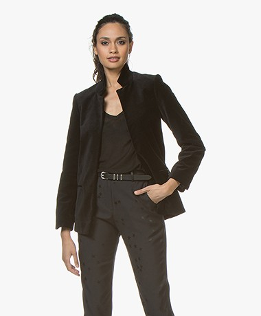 Zadig & Voltaire Volly Velours Blazer - Black