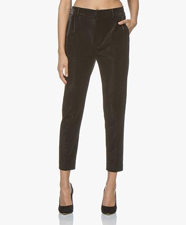 Drykorn Find Lurex Jersey Pantalon - Zwart