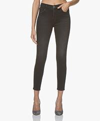 Current/Elliott The High Waist Stiletto Skinny Jeans - Zwart 1 Year Worn