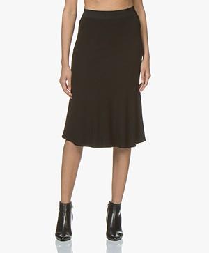 By Malene Birger Tassia Jersey Ruffle Skirt - Black