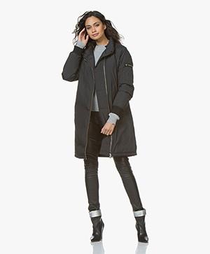 Filippa K Nora Hooded Down Jacket - Black