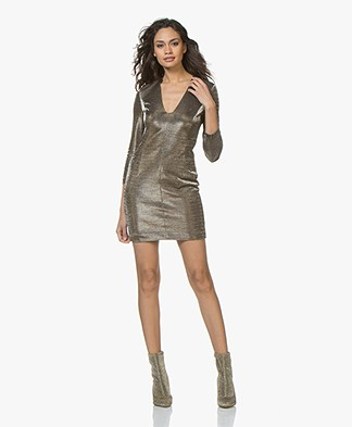 Drykorn Jilian Lurex Dress - Taupe