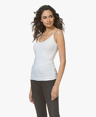 Drykorn Leyla Double V-neck Top - White