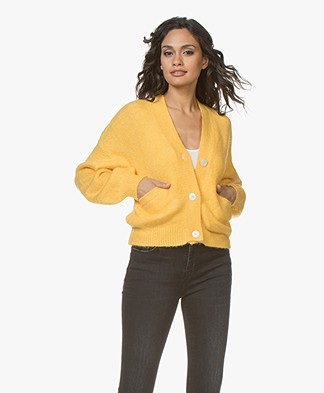 Ragdoll LA Button Down Short Cardigan - Yellow