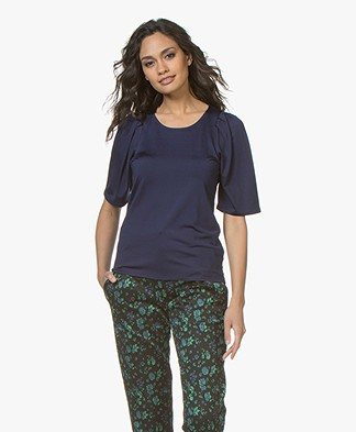 Filippa K Pleat T-shirt - Ink