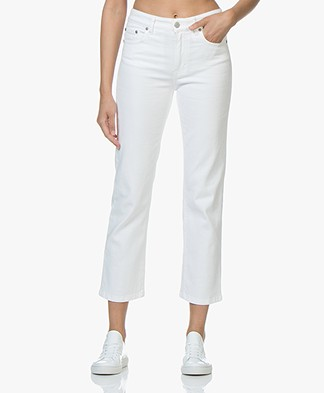Filippa K Stella Cropped Coloured Denim Jeans - White