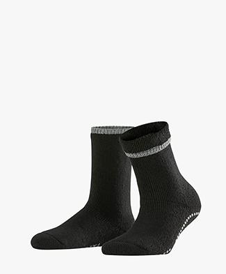 FALKE Cuddle Pads Stopper Huissokken - Zwart/Grijs