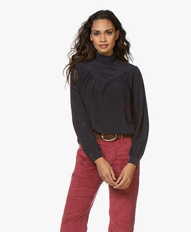 Closed Danni zijden Crêpe-de-chine Blouse - Dark Night