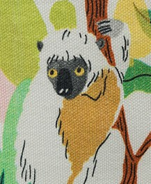 &Klevering Bodil Toilettas Groot met print - Sloth