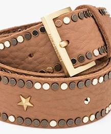 Zadig & Voltaire Starlight Leather Belt - Camel