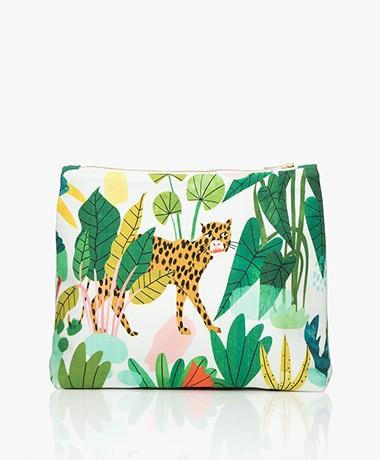 &Klevering Bodil Toilettas Groot met Print - Leopard