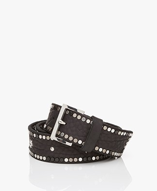 Zadig & Voltaire Starlight Leather Belt - Black