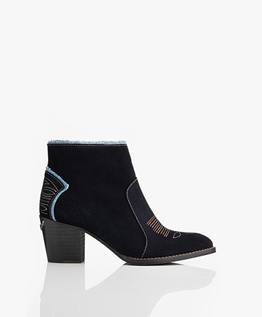 Zadig & Voltaire Molly Suede Ankle Boots - Ink