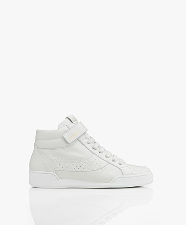 Copenhagen High-top Leather Sneakers - Off White