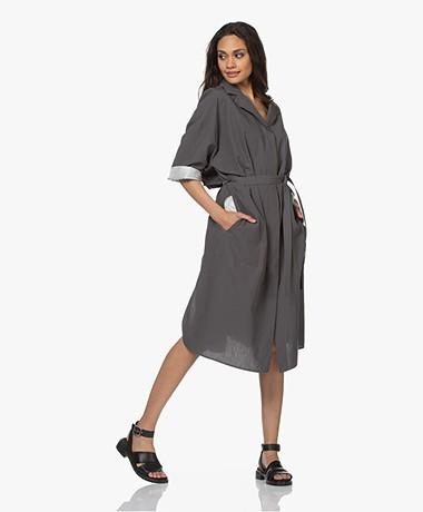 Joseph Drita Cotton Blend Shirt Dress - Titanium