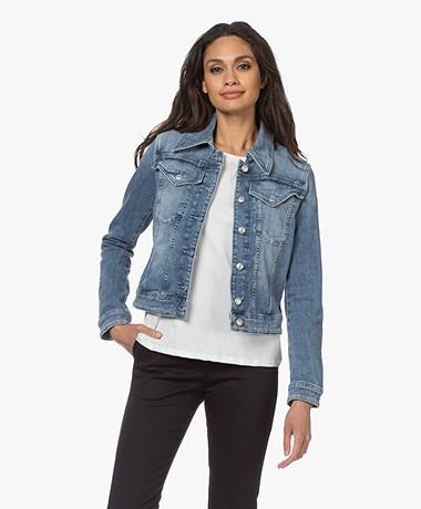 Drykorn Somerton Cotton Blend Denim Jacket - Medium Blue