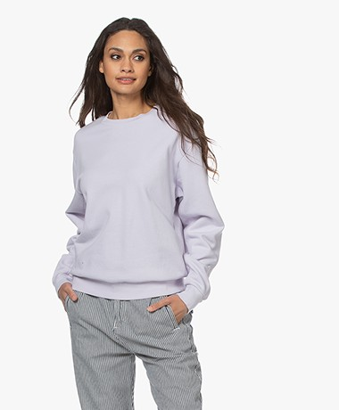 Closed Cotton French Terry Sweatshirt - Lavender