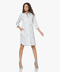 Belluna Stockholm Printed Linen Dress - Blue/White