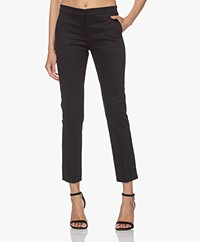 Woman by Earn Stretch Cotton Pants - Navy