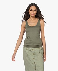 Majestic Filatures Abby Superwashed Tank Top - Khaki