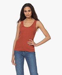 Woman by Earn Karly Rib Knitted Tank Top - Burnt Orange