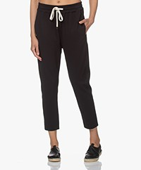 Bassike Stretch Twill Tapered Broek - Zwart