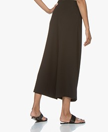 BY-BAR Cropped Pleated Pants - Black