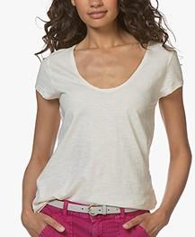 Drykorn Avivi Slub Jersey T-shirt - Cream