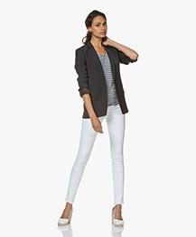 Rag & Bone High Rise Skinny Jeans - White