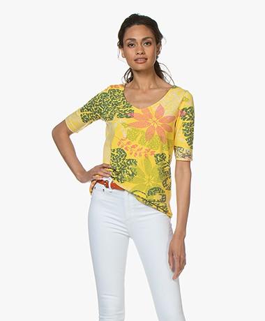 Kyra & Ko Ormanda A-lijn Print T-shirt - Lemon