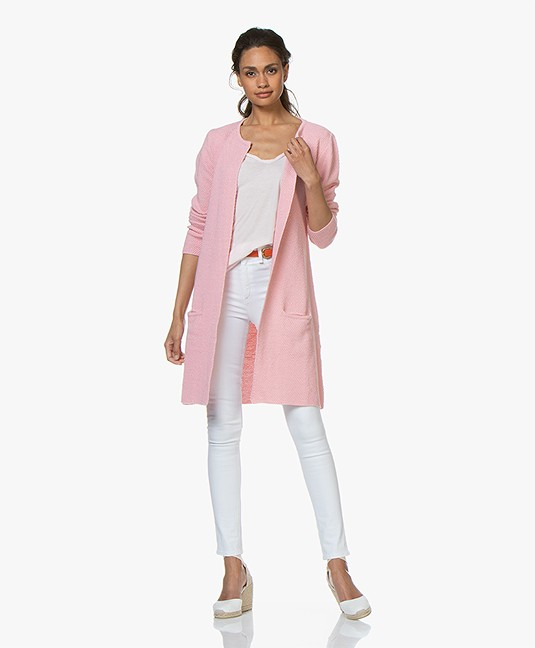Sibin/Linnebjerg Mary Merino Blend Open Cardigan - Blossom Pink