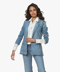 Current/Elliott The Highball Denim Blazer - Fairwater