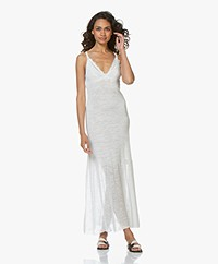 Fine Edge Duo-knit Maxi Jurk - Off-white