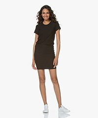 James Perse Jersey T-shirt Jurk - Zwart