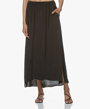 American Vintage Nonogarden Cupro Blend Maxi Skirt - Carbon