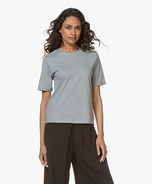 Filippa K Organic Cotton T-shirt - Grijs Mêlee