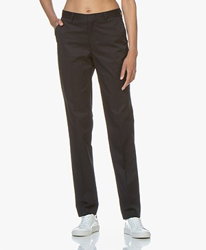 Filippa K Nicky Cotton Broek - Navy