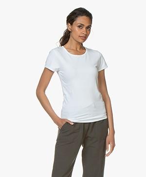 Filippa K Soft Lycra T-Shirt - White
