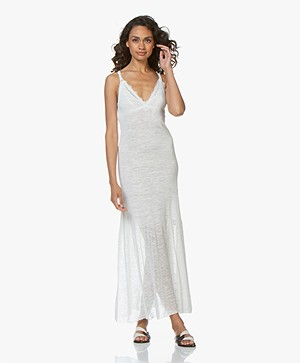 Fine Edge Duo-knit Maxi Dress - Off-white