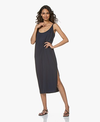 BY-BAR Dorris Midi Slip Dress - Dark Navy