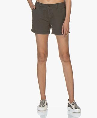 BRAEZ Linen Blend Shorts - Army