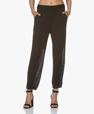 Filippa K Sheer Crepe Pants - Black