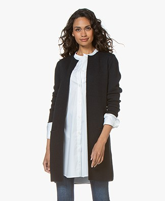 Sibin/Linnebjerg Zuni Long Open Cardigan - Navy