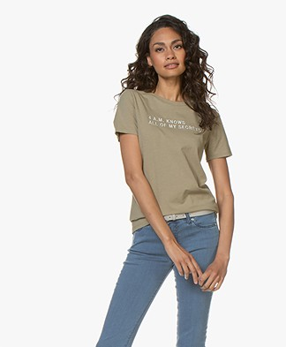 BOSS Tasecrets Embroidered T-shirt - Bright Green
