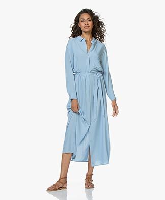 Marie Sixtine Megane Maxi Shirt Dress - Celeste