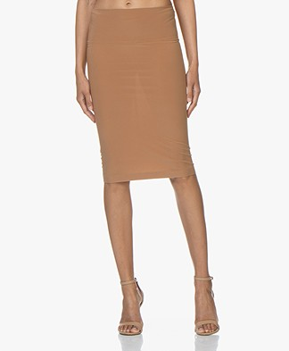 Norma Kamali Tube Tech Jersey Skirt - Sun Tan