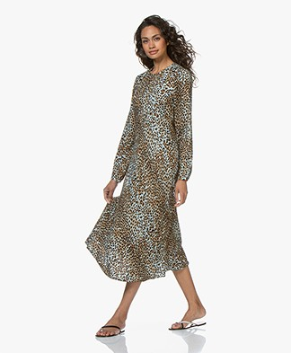 Ragdoll LA Long Printed Dress - Brown