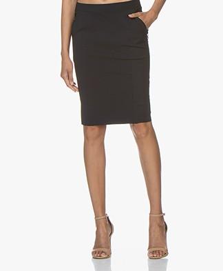 Woman by Earn Bibi Tech Jersey Pencil Skirt - Navy