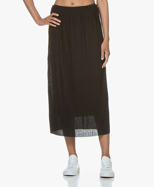 e01197c416c2 Filippa K Wave Plisse Midi Skirt - Black - 26067 1433
