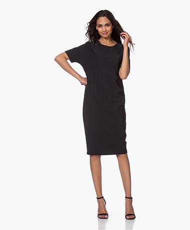 Woman By Earn Ziggy Tech Jersey Dress - Black